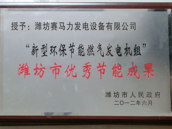 Weifang outstanding energy saving achievement