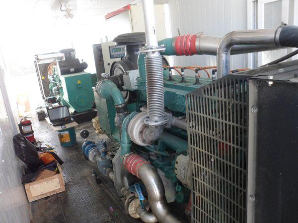 2 sets 1500kw gas generator operating in oilfield