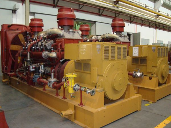 2 sets 1000kw gas generator exported to Russia